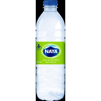 Eau de source naturelle Naya 24 X 600 ml ou 28 X 500 ml